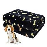 softan Manta para Mascotas, Manta para Perros esponjosa para Perros pequeños, medianos y Grandes, Manta de Cachorro Lavable para Perros Cama, 80 x 100cm, Negro