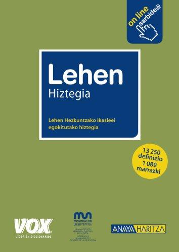 Lehen Hiztegia (Vox - Lengua Vasca) por Batzuk