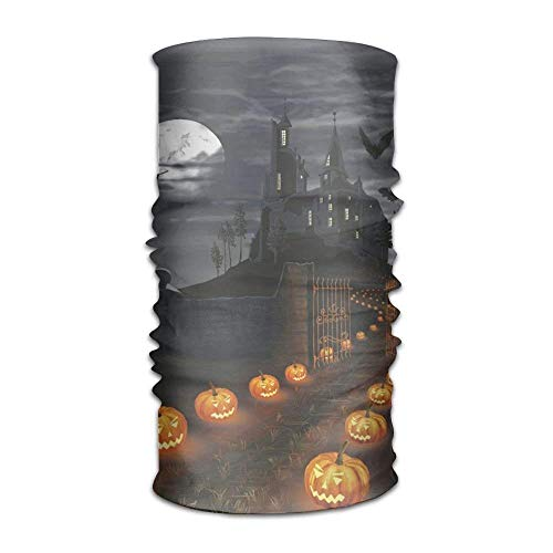 Walnut Cake Sturmhauben Magic Headwear Halloween Castle with Pumpkins Outdoor Scarf Headbands Bandana Mask Neck Gaiter Head Wrap Mask Sweatband