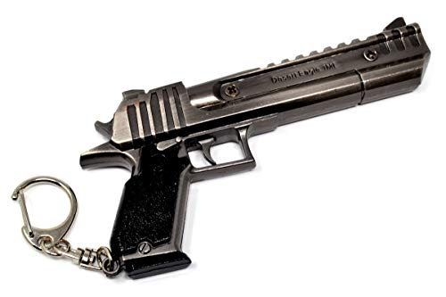 ARUNDEL SERVICES EU Desert Eagle Llavero de Metal Videojuego Pistola Llavero Juguetes Colección Llavero Regalo