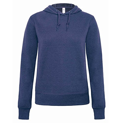 B&C Denim Damen Modern Sweatshirt Gr. X-Small, Dark Heather Blue (Crewneck Blue Distressed)