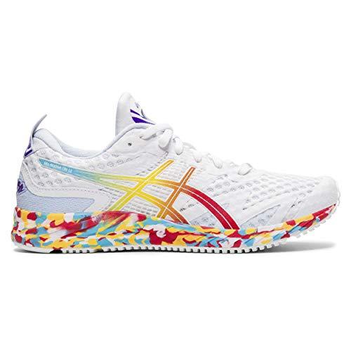 Asics Gel-Noosa Tri 12, Road Running Shoe para Mujer, Blanco/Rojo clásico, 37.5 EU