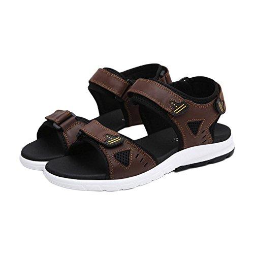 Sandales plates respirantes à la mode d'été brown
