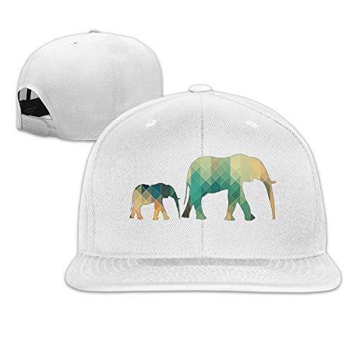 Osmykqe Geometric Elephant Leichte atmungsaktive Outdoor-Laufmütze Athletic Baseball Fitted Caps für Herren - Armee Camo Fitted Hut