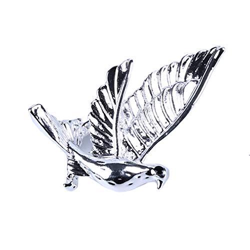 kemai Tauben-Brosche Cartoon-Vogel Vintage Schöne Brosche Hemd Pin - Silber