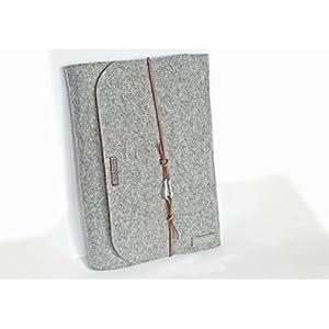 personalisierte für Macbook Pro 13 Zoll Filz Hülle Laptoptasche Namen Laptophülle 15 Zoll Leder Karabiner retro vintage Laptop Tasche Buchstaben