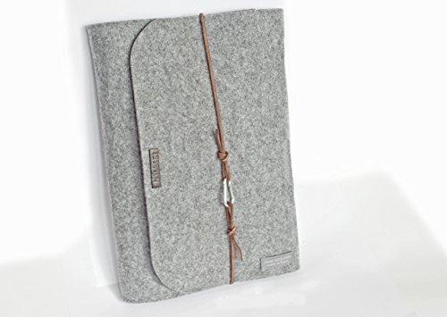 personalisierte für Macbook Pro 13 Zoll Filz Hülle Laptoptasche Namen Laptophülle 15 Zoll Leder Karabiner retro vintage Laptop Tasche Buchstaben (Leder Personalisierte Laptop)