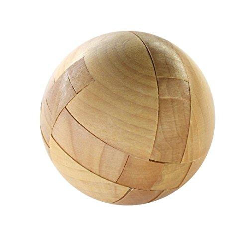 MINGZE Holzpuzzle Spielzeug Spiel Puzzle Magic Ball Spiel Erwachsene / Kinder Puzzle-Spiel Entdecken Sie Kreativität und Lösen Sie Probleme