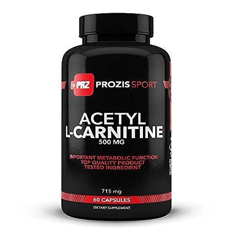Prozis 100% Acetyl L-Carnitin Kapseln 500mg - Qualitativ hochwertiges Aminosäure-Ergänzungsmittel