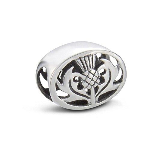 Anhänger, Motiv: Schottische Distel, Silber National Silver Thistle