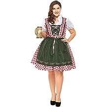 Señoras Vestido Vestidos Típicos Set Grande Oktoberfest Ropa Traje Midi Vestidos Disfraces para Mujer Halloween Cosplay