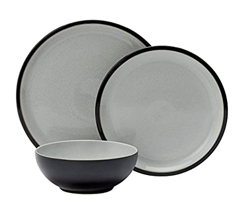 Denby 12 Piece Stoneware Dinner Set - Black