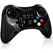 Compatible with Wii U Mando, PowerLead Controlador inalámbrico para Nintendo Wii U recargable Controlador de juegos analógico dual viabration Gamepad