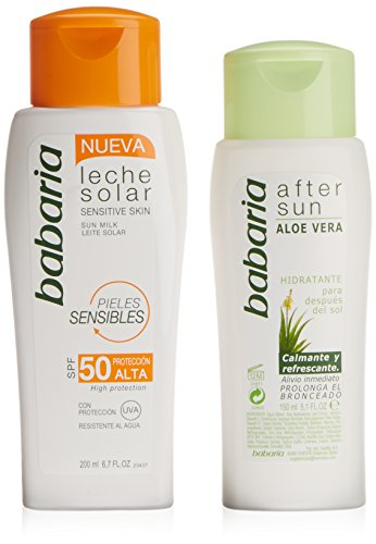 Babaria Leche Solar Aloe Vera Pieles Sensible Spf50 200Ml + After Sun 150Ml