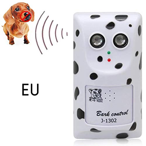 EisEyen Perro Mascota Ultrasónico de Control de Parada Perro Ladrido Anti No Corteza Dispositivo Silenciador Colgador UE Enchufe Bark Ultrasónico Dispositivo de Parada