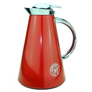 Emsa 507838 Slim Pichet Isotherme Quick Tip Rouge Inox Brillant -1 L