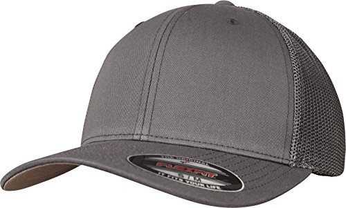 Flexfit Mesh Trucker Kappe, Darkgrey, L/XL