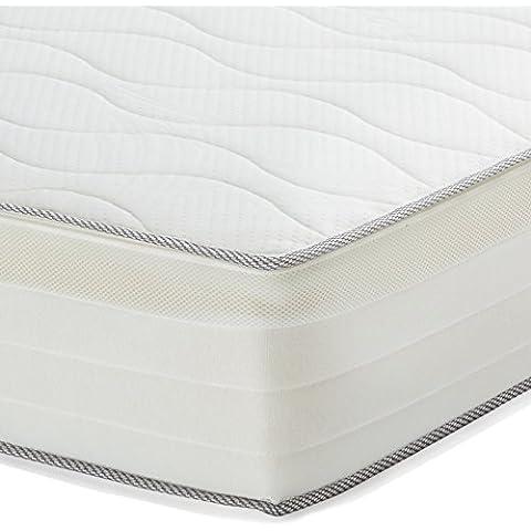 AmazonBasics - Colchón extra confort de muelles de 7 zonas, 140 x 190 cm