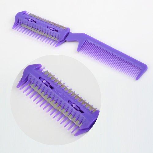 Haar Razor Comb Scissor Professional Home Ausdünnung Trimmer Friseur Lila