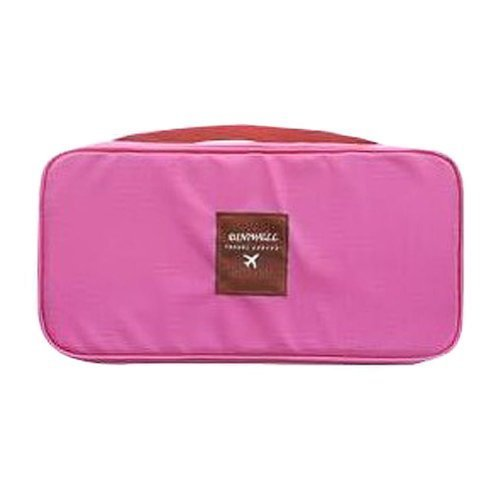 BlueTop Fashion Portable Multi-Functional Collecting Bag Travel Organizer Cosmetic Make-up Bag Protect Underwear Bra Pouch Lingerie Case (blush pink) by BlueTop