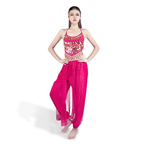 SymbolLife Bauchtanz kostüm damen indischen Tanzkleidung Tanzkostüme belly Dance Halloween Karneval Kostüme Darbietungen Kleidung (Frauen Für Halloween Kostüme Indische)