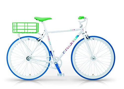 MBM Prisma H52 Bicicletta Scatto Fisso Acciaio Uomo, Bianco, 52 cm
