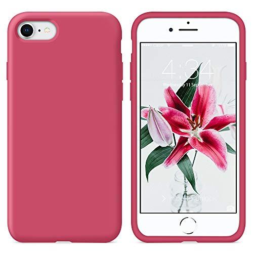 SURPHY Cover iPhone 8, Cover iPhone 7, Custodia iPhone 8 7 Silicone Slim Cover Antiurto con Morbida Microfibra Fodera, Ultra...