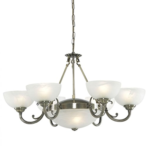 Searchlight Windsor 3778-8AB 7 Traditional Pendant Windsor 8