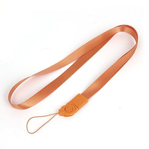 Tarjeta de Identificación DealMux etiqueta del nombre del teléfono móvil de la cámara cuerda de seguridad que cuelga de la correa de 18,5 pulgadas de largo de color naranja