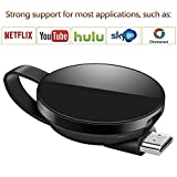 Dongle inalámbrico con Pantalla WiFi, Soporte del Sistema Android para Google Chrome, Adaptador de Receptor de TV Digital HDMI 1080P, TV Stick Miracast Airplay para Android / Mac / iPhone