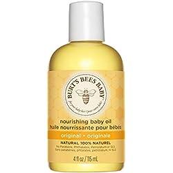 Burt's Bees 100% Natürlich pflegendes Babyöl, Pflegeöl aus Aprikosen und Traubenöl, 1er Pack x 115 ml