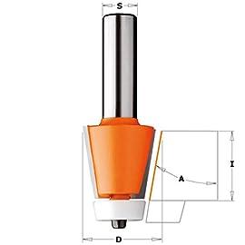 CMT Orange Tools 964,580.11-Fresa profilata con rodam hm s d 12 31,75 r 8