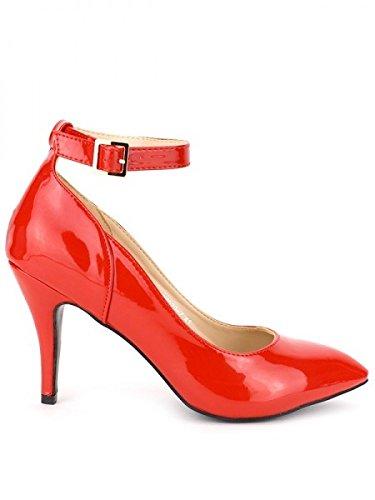 Cendriyon, Escarpin Verni rouge Grande pointure GLAM Chaussures Femme Rouge