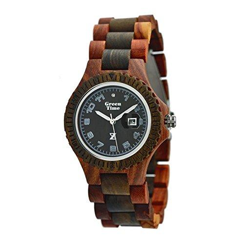 Uhr Zzero Green Time zw006C Quarz (Batterie) Holz Quandrante braun Armband Holz