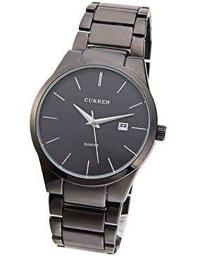 OrrOrr CURREN 8106 Herren Jungen Wolfram Stahl Analog Quarz Armbanduhr