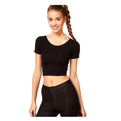 LHWY Damen Basic Tees Tops zugeschnitten t-shirt Bluse B