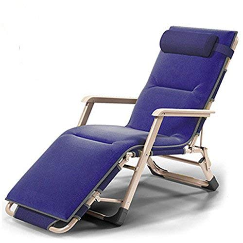 HhGold Liegestühle | Im Freien justierbarer Nickerchen-Ruhesitz-Stuhl-faltender Klappstuhl-Strand-Stuhl mit dem Stahlrohr-Rahmen, der 200kg, 1 Pack trägt (Farbe : 1 Pack) -