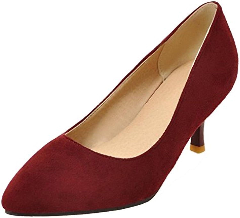 COOLCEPT Mujer Moda sin Cordones Mini tacons Bombas Zapatos Trabajo Boca Baja Zapatos