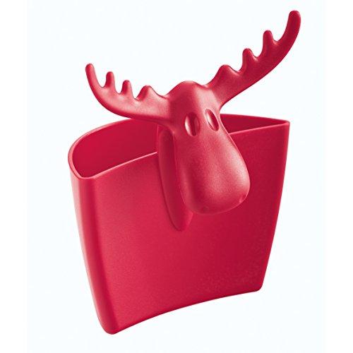Koziol 3557583 Rudolf Tassenutensilo, Thermoplastischer Kunststoff, himbeer rot, 5.5 x 7.2 x 8.8 cm