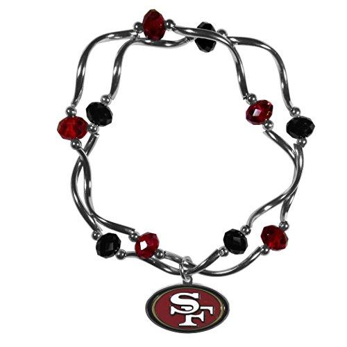 NFL San Francisco 49ers Damen Kristall Bead Armband, Stretch (Armband 49ers)