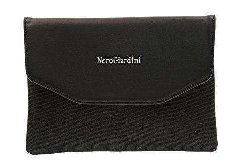 NERO GIARDINI donna pochette con tracolla metallica P743130D/100 Nero