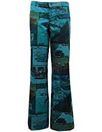 8419U pantalone donna CUSTO BARCELONA green pant trouser woman