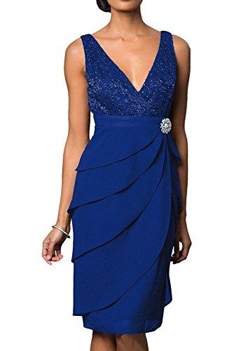 Victory Bridal - Robe - Femme bleu roi