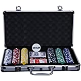Casinokart 300 pcs Casino Quality Without Denomination Poker Chipset (Multicolour)