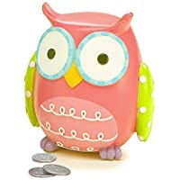 Preisvergleich für Whooo's Hootie Cutie Owl Shaped Baby Piggy Money Coin Bank (Blue & Green) by Burton & Burton