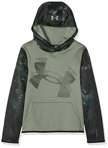 Under Armour - Sudadera con Capucha y Forro Polar para niño, Niños, 1318229-492, Moss Green/Black, Junior L