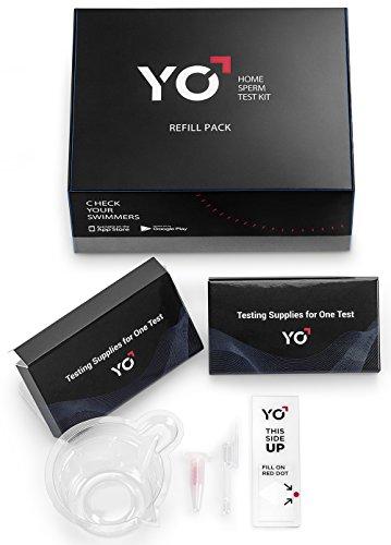 Nachfüllpack von 2Tests für alle Samsung und Apple Yo Home Sperm Test Kits | 2Extra motile Sperm Analyse Kits zu überwachen Fruchtbarkeit über Zeit | Batch: Angemeldet (Fruchtbarkeit Test-kit)