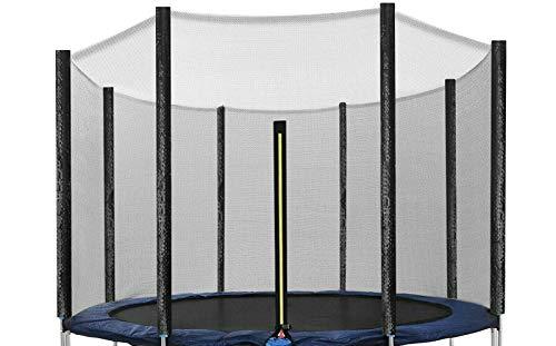 EGLEMTEK Rete di Protezione Sicurezza Ricambio Trampolino Elastico Diametro  305 con 8 Pali Colore Nero