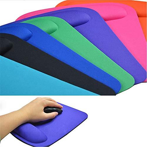 lymty Superfine Fibre Memory Foam Mouse Pad Handgelenkstütze Unterstützung Ergonomisches Mousepad mit Rutschfester Unterlage für Laptop, Gaming, Büro - Komfortabel für Tippen und Schmerzlinderung -
