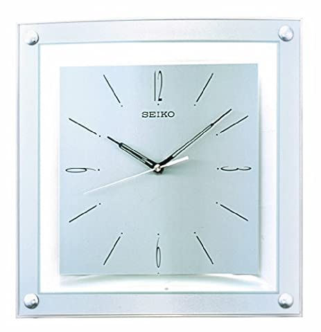 Seiko Silver Toned Face Square With Curved Front Wall